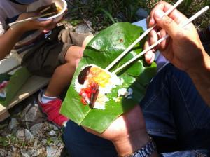 昼食ホウバ寿司