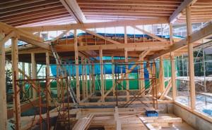 木工事中の家の中の様子